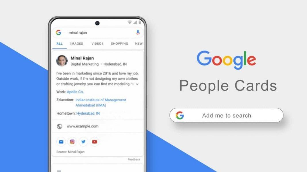Google people cards